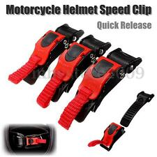 Motorcycle Bike ATV Helmet Chin Strap Speed Sewing Clip 3 Quick Release Buckle