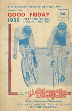 SOUTHERN COUNTIES GOOD FRIDAY 1939 TRACK CYCLE RACE MEETING CYCLING PROGRAMME