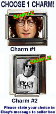 John Lennon Portrait Photo Custom Italian Charm! Beautiful, Imagine, choose 1!