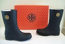 Tory Burch Maureen Rainboots Black Size 8 New In Box Authentic!
