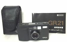 Near MINT Ricoh GR21 Date 35mm Film Camera with Case Free Ship Japan