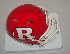 Ray Rice signed Rutgers Scarlet Knights mini helmet - Star Running Back