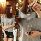 Retro Charm Jewelry Crystal Pendant Long Chain Sweater Necklace Fashion Gift