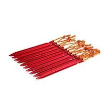 "10 PCS Aluminium Alloy 7"" Red Camping Trip Tent Pegs Stake Nail Brand New"