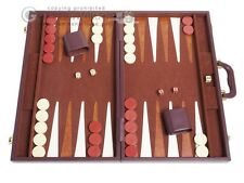 "21"" Tournament Backgammon Set - Classic Board Game - Brown"