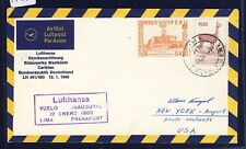 55510) LH FF Lima Peru - New York 12.1.66,  SoU, Stempel violett