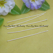 500pcs Silver Plated Thin Head Pins 49mm Finding 0.5mm