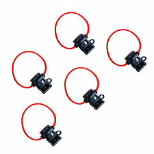 5 x Standard Blade Fuse Holder In-line Splash Proof 12V 30A Fuses Car Bike 559