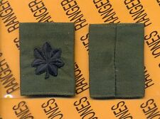 US ARMY Lieutenant Colonel LTC OD Green & Black slip on rank patch