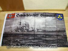 Fahnen Flagge Schlachtschiff Bismarck Wappen - 90 x 150 cm