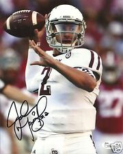 JOHNNY MANZIEL TEXAS A&M AGGIES SIGNED 8X10 PHOTO W/JSA COA #10