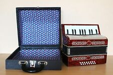 Vintage Collectible Soviet Childs Accordion Malish 16 Bass + Case Free Shipping!