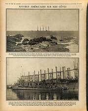 US Navy Ship Boat HMS Neptunia Cargo Blé  Dock Quai Port Saint-Nazaire 1917 WWI