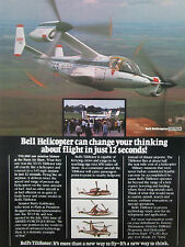 8/1981 PUB BELL HELICOPTER TEXTRON TILTROTOR XV-15 NASA AMES ARMY ORIGINAL AD