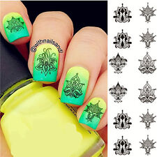 1 Sheet Nail Art Water Transfer Decal Manicure Sticker Various Designs Decor