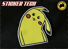 CROOKED WRY NECK CARTOON PIKACHU POKEMON GO STICKER DECAL TO SUIT 4X4 UTE CAR