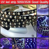 16.4ft 5M UV Ultraviolet led strip 395nm SMD 3528 5050 Purple LED Flex light 12V