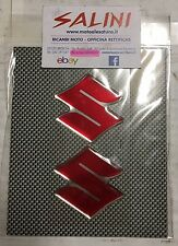 Adesivo Logo SUZUKI rosso resinato ( 2 pezzi )  - Sticker