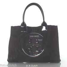 AUTH TORY BURCH BLACK NYLON ELLA TOTE BAG MSRP $195.00 #6829L