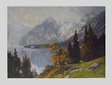 Edward Compton Kunstdruck Poster Bild Lichtdruck Königssee vom Weg zur Gotzenalm