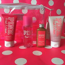 Victoria secret PINK Gift Set Fresh & Clean Travel Mini HOLIDAY bronzer splash
