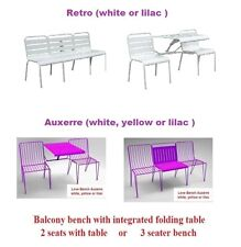 $399 German My Balconia Love Bench Auxerre or Retro - white,yellow or lilac