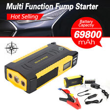 69800mAh 12V Portable Car Jump Starter Pack Booster Charger Battery Power Bank