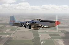 """WORLD WAR 2 P-51D MUSTANG FIGHTER PLANE WALLPAPER MURAL, 48"""" TALL X 72"""" WIDE,"""
