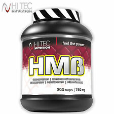 HMB 200 Caps. Anticatabolic Anabolic Lean Mass Builder Fat Burner Muscles Growth