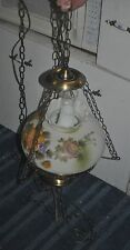VINTAGE  HURRICANE GONE WITH THE WIND ELECTRIC HANGING LAMP ~ GWTW