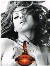 PUBLICITE ADVERTISING 095  2008  CALVIN KLEIN  parfum  OBSESSION avec EVA MENDES