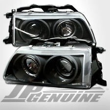 HALO PROJECTOR HEADLIGHTS BLACK - HONDA CIVIC / CRX 88-89
