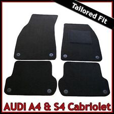 Audi A4 / S4 B6 B7 Convertible Cabrio 2002-2009 Tailored Carpet Car Mats BLACK