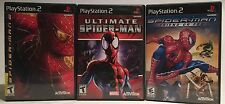 Ps2 Spider-Man Bundle Lot Of 3! Spider-Man 2, Ultimate, And Friend Or Foe TESTED