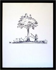 1980 POLITICAL CARTOON by EUGENE PAYNE Charlotte NC Laurel & Hardy with Cats