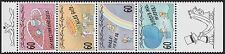 1995 LIECHTENSTEIN N°1052/1055** TP de souhaits, Greeting Stamps Strip SC#1054a