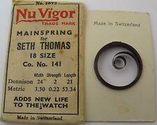 Nos Seth Thomas 18s model 141 Mainspring 1 piece * T end *