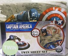 MARVEL COMICS BOYS CAPTAIN AMERICA AVENGERS SUPERHERO 3P TWIN BED SHEETS SET NEW