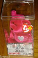 Mets 1999 Shea Stadium TY Valentina Beanie Baby & Ticket Promo Card 1464 in Box