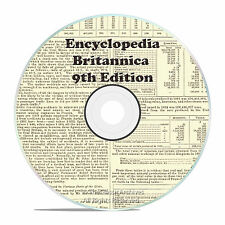 Rare from 1875, 9th Edition, ENCYCLOPEDIA BRITANNICA 25 volume Set on DVD in PDF