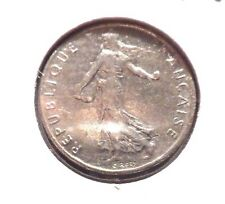 CIRCULATED 1977 1/2 FRANC FRENCH COIN! (51015)