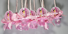 12 PC BABY SHOWER PARTY FAVORS PACIFIER NECKLACES BABY GIRL CROWN PINK 12 DECOR