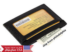 MEN's GENUINE LEATHER THIN SLIM Wallet Holder Money Credit Card ID Window
