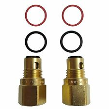 Kinetic CERAMIC DISC SPINDLE TAPS EXTENDER 28mm 2 Pieces Brass Construction