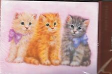3 KITTENS NOTE CARDS & ENVELOPES NEW IN PACKAGE OF 8 COLLECTIBLE CUTE