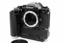 =Almost Unused= Nikon New FM2 Late Model FM2N 35mm SLR camera w/MD-12 From Japan