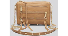 NWT $295 Rebecca Minkoff Large 5 Zip Leather Crossbody Fatigue