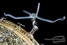 1920s Leedy Snare Drum Basket / Bass Drum Mount Clamp : Vintage Hardware Stand