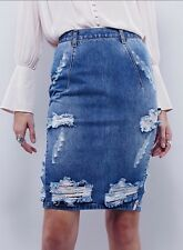 Free People One Teaspoon Denim Free love Skirt Size 26 Destroyed Destruct