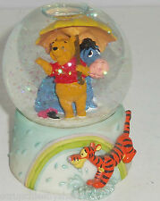 Disney Winnie Pooh Eeyore Tigger April Showers Snowglobe Paperweight Retired